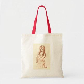 Elf anime style tote bag
