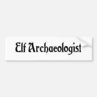 Elf Archaeologist Bumper Sticker Car Bumper Sticker