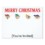 "Elf Assembly 4.25"" X 5.5"" Invitation Card"