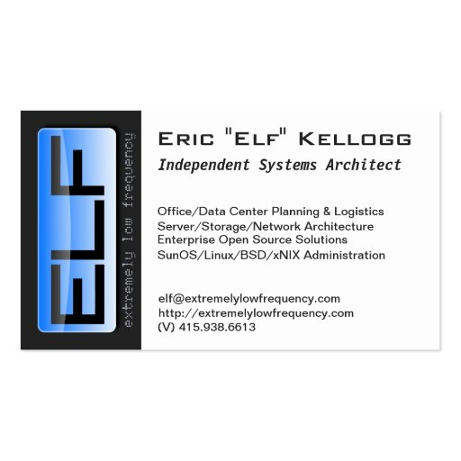 ELF biz cards Double-Sided Standard Business Cards (Pack Of 100)