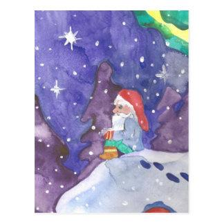 Elf can't sleep Winter Holiday Postcard