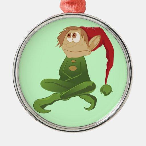 Elf Christmas bell ornament