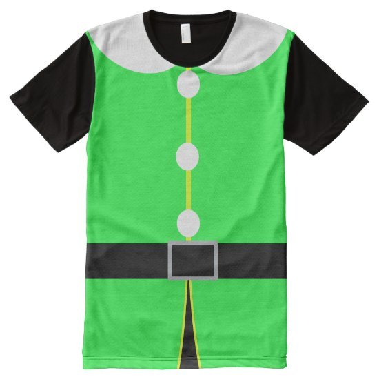Elf Christmas Costume All-Over-Print Shirt