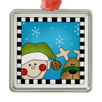 Elf Christmas ornaments ornament