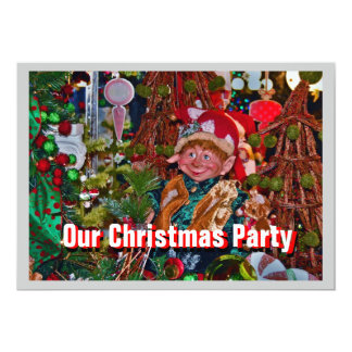 Elf Christmas Party Invitation left