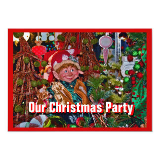 Elf Christmas Party Invitation right