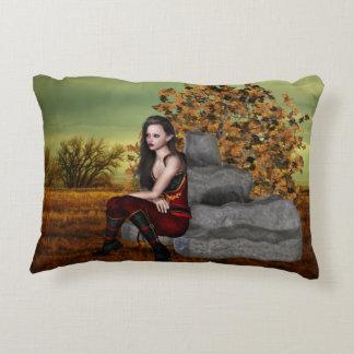 Elf Contemplation Accent Pillow