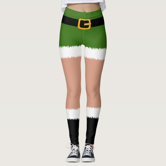 Elf Costume Christmas Leggings