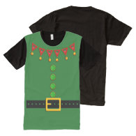 Elf Costume for Parents All-Over Print T-shirt