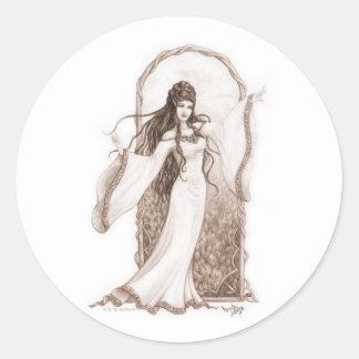 Elf Dancing Classic Round Sticker