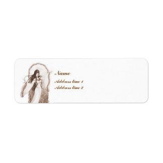 Elf Dancing Return Address Label