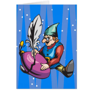 Elf Decorating Christmas Ornament Stationery Note Card