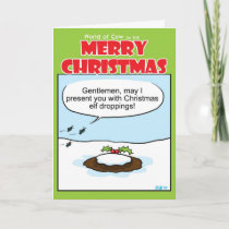 Elf droppings holiday card