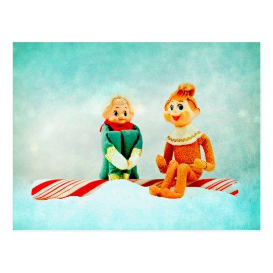 Elf First Date Postcard
