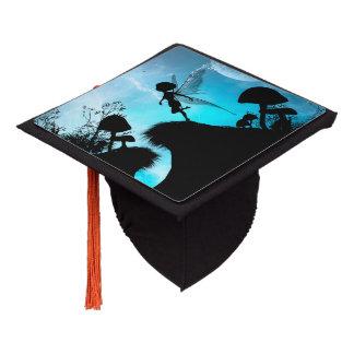 Elf flying in the night graduation cap topper