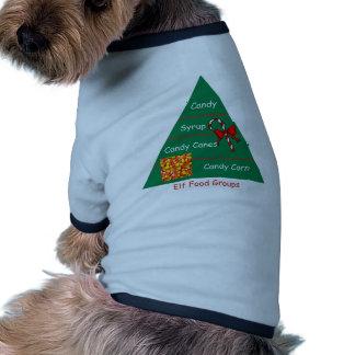 Elf Food Groups Pet Tshirt