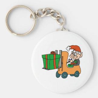Elf Forklift Keychain
