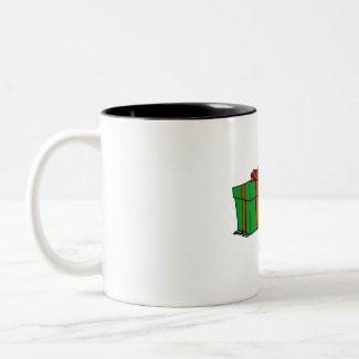 Elf Forklift mug