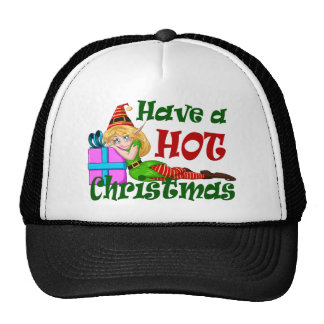 Elf Girl Have a HOT Christmas Trucker Hat