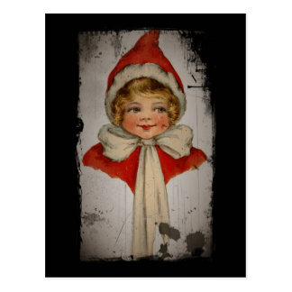 Elf Girl in a Red Cape Postcard