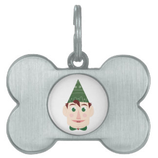 Elf head pet ID tags