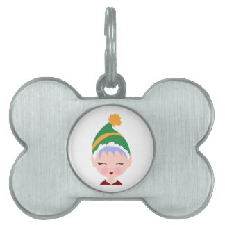 Elf Head Pet Tag