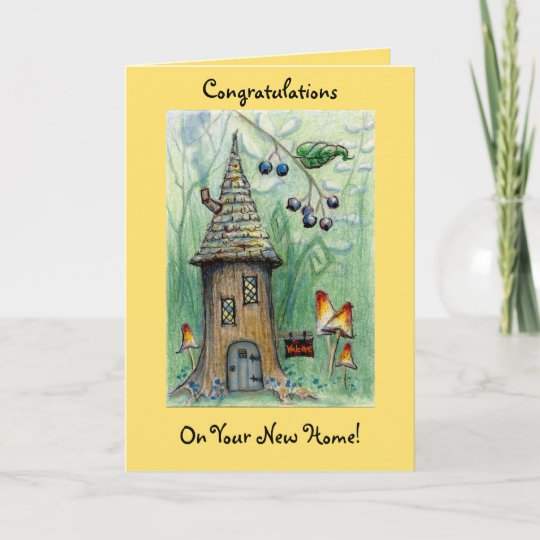Elf house happy new home greeting card zazzle elf house happy new home greeting card m4hsunfo