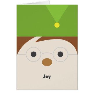 Elf Illustration Holiday Greeting Card