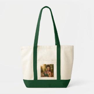 Elf in Woods Canvas Tote Bag