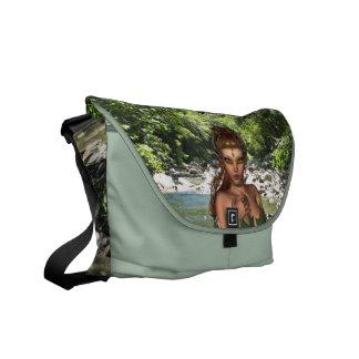 Elf in Woods  Messenger Bag
