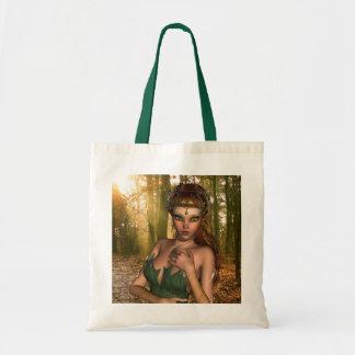 Elf in Woods Small Tote Bag