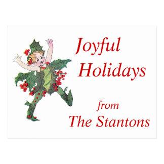 Elf Joyful Holidays Poscard Postcard