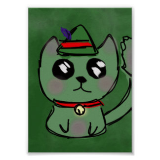 Elf Kitty Poster
