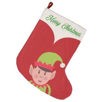 Elf Large Christmas Stocking