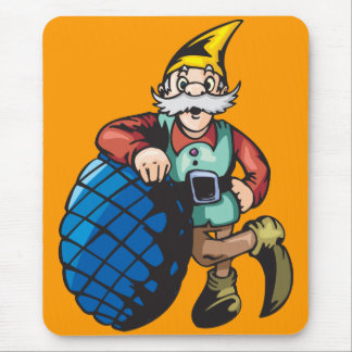 Elf Leaning On Christmas Ornament Mouse Pad