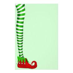Elf Leg Scrapbooking Paper at Zazzle
