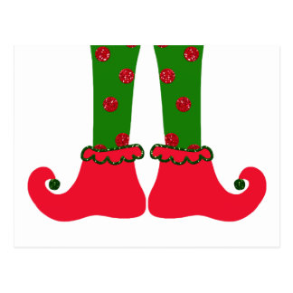 Elf Legs Christmas Postcard