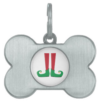 Elf Legs Pet Name Tags