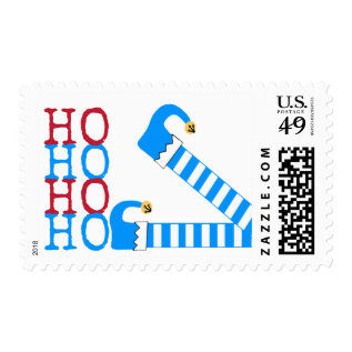 Elf Legs with HO HO HO Funny Christmas Postage at Zazzle