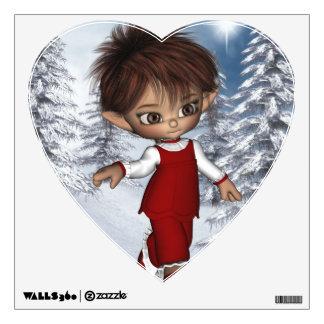 Elf Magic Candy Christmas Wall Decal Heart