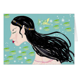 Elf maiden or swan princess? greeting cards