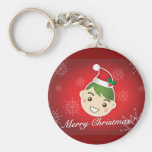 Elf Merry Christmas Keychains