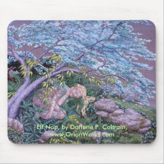 Elf Nap, Elf Nap, by Darlene P. Coltrain, www.O... Mouse Pad