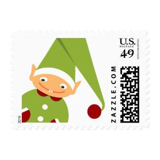 Elf on Shelf Christmas Holiday Stamp