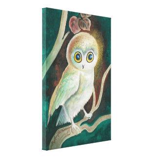 Elf Owl On Autumn Branch Canvas Print