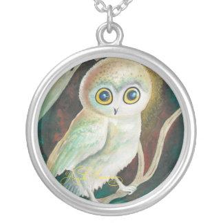 Elf Owl On Autumn Branch Pendants