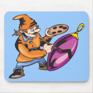 Elf Painting Ornament Mouse Pad