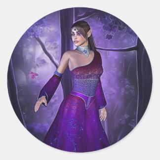 Elf Princess Classic Round Sticker