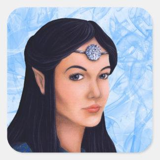 Elf Princess Square Sticker