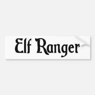Elf Ranger Bumper Sticker